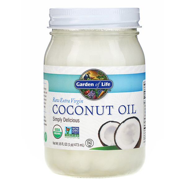 Garden of Life, Raw Extra Virgin Coconut Oil, 16 fl oz (473 ml) (Discontinued Item)