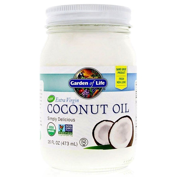 Garden of Life, Raw Extra Virgin Coconut Oil, 16 fl oz (473 ml)