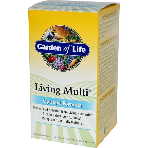 Garden of Life, Living Multi, Optimal Formula, 126 Veggie Caplets (Discontinued Item)