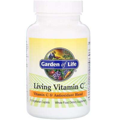 Купить Garden of Life Living Vitamin C, 60 растительных капсуловидных таблеток