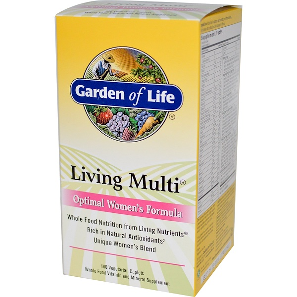 Garden of Life, Living Multi, Optimal Women's Formula, 180 Veggie Caplets (Discontinued Item)