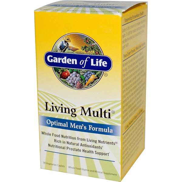 Garden of Life, Living Multi, Optimal Men's Formula, 90 Caplets (Discontinued Item)