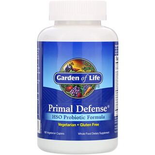 Garden of Life, Primal Defense, пробиотическая формула с гомеостатическими почвенных миорганизмами (HSO), 180вегетарианских капсул
