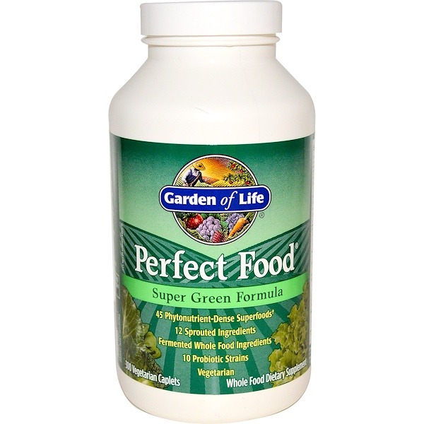 Garden of Life, Perfect Food, Super Green Formula, 300 Veggie Caplets