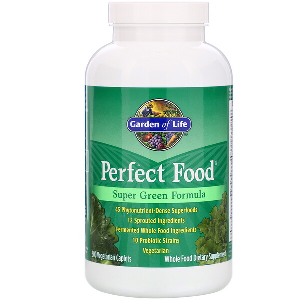Perfect Food, Super Green Formula, 300 Vegetarian Caplets