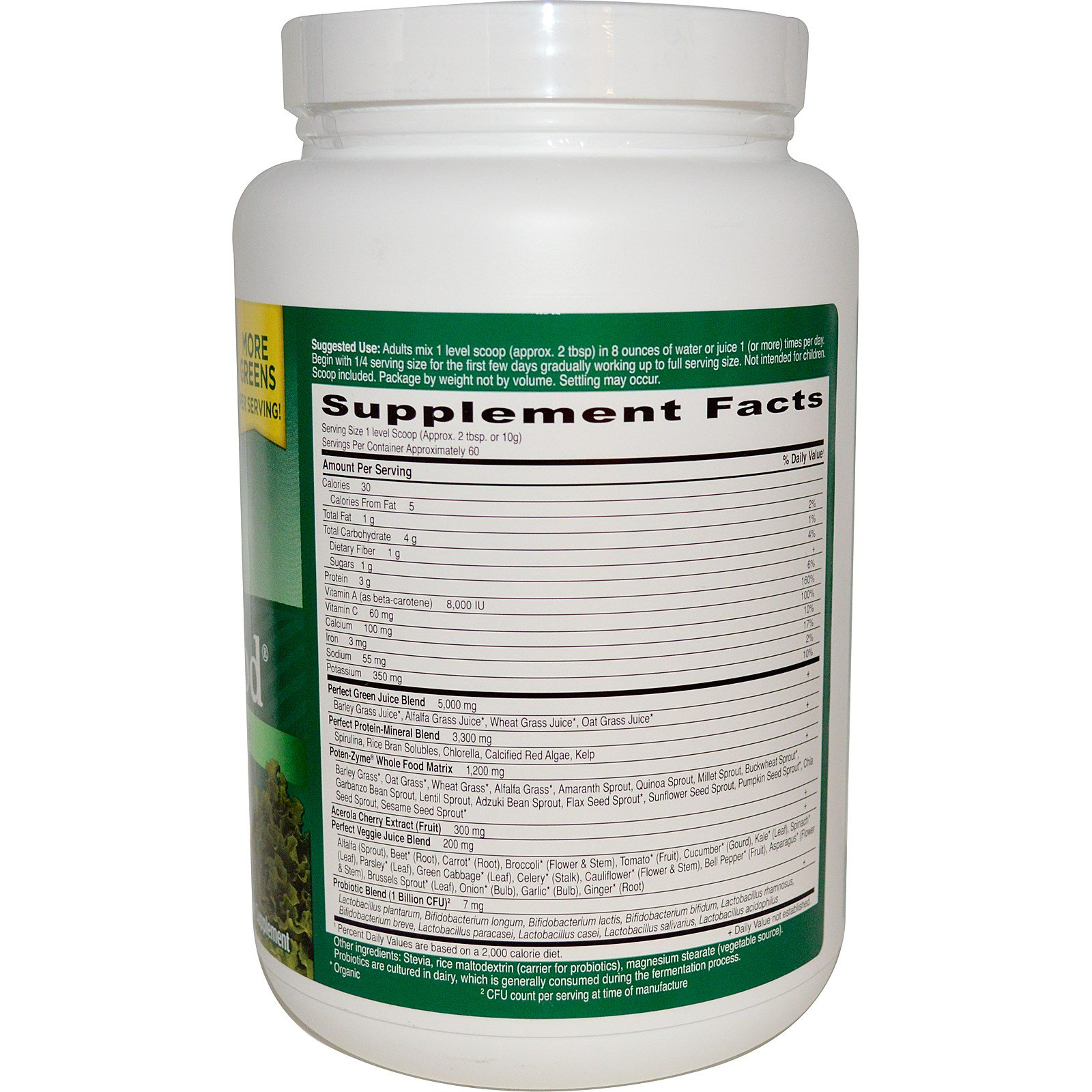 Garden Of Life Perfect Food Super Green Formula 2116 Oz 600 G Supergreen 150 Tablets Sgf Click To Zoom