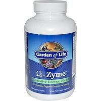 Omega-Zyme, Смесь пищеварительных энзимов, 180 растительных капсул - фото