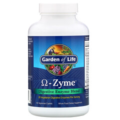 Garden of Life, 歐米伽酶,消化酶混合物,180 片素食囊片