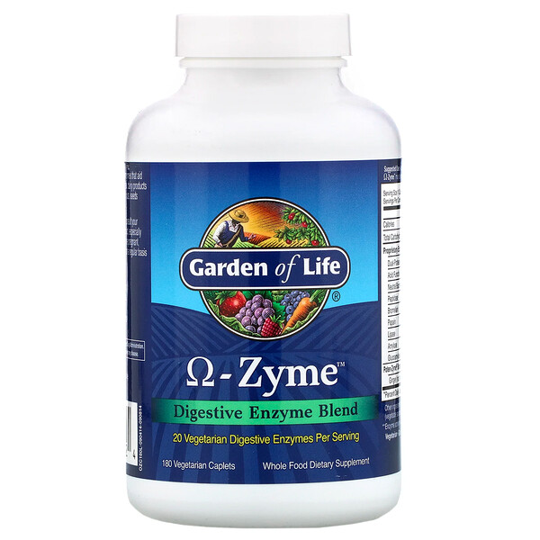 Omega-Zyme, Digestive Enzyme Blend, 180 Vegetarian Caplets