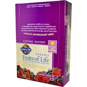 Гарден оф Лайф, Organic, Fruits of Life, Whole Food Antioxidant Matrix Bar, Summer Berry, 12  Bars, 2.25 oz (64 g) Each отзывы