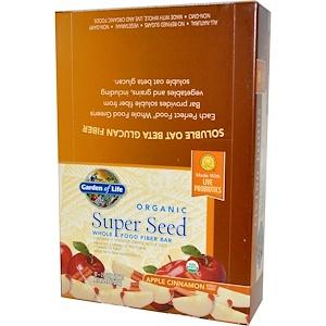 Гарден оф Лайф, Organic, Super Seed, Whole Food Fiber Bar, Apple Cinnamon, 12 Bars, 2.4 oz (68 g) отзывы