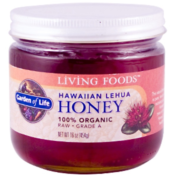Garden of Life, Living Foods, Hawaiian Lehua Honey, 16 oz (454 g) (Discontinued Item)