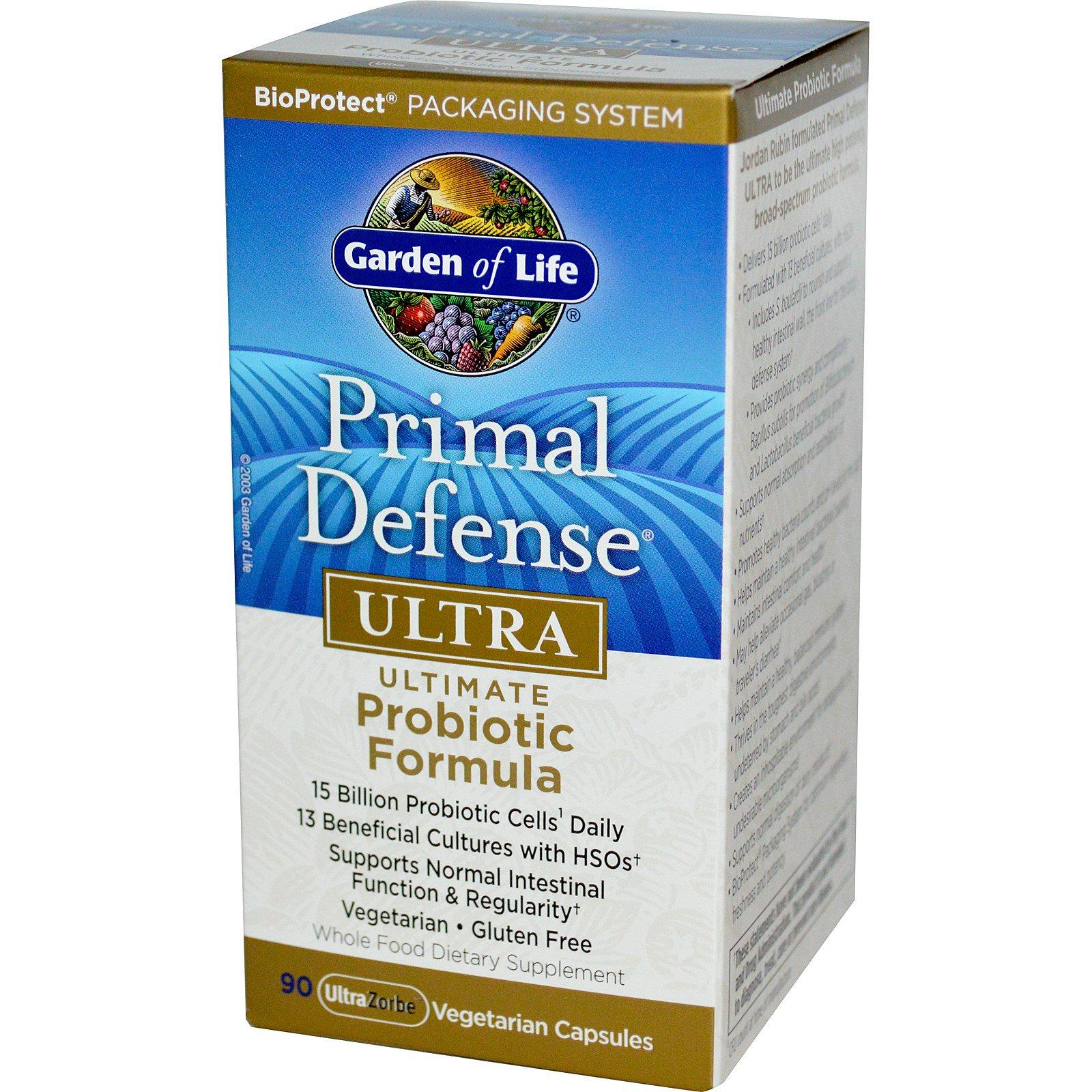 defense primal life ice raw caps of probiotics veggie care ultimate garden pr