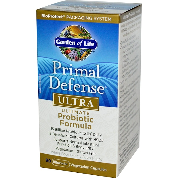 Garden of Life, Primal Defense, Ultra, Ultimate Probiotic Formula, 90 UltraZorbe Vegetarian Capsules