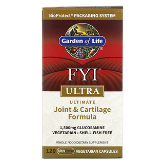 Garden of Life, FYI Ultra, Ultimate Joint & Cartilage Formula, 120 UltraZorbe Vegetarian Capsules