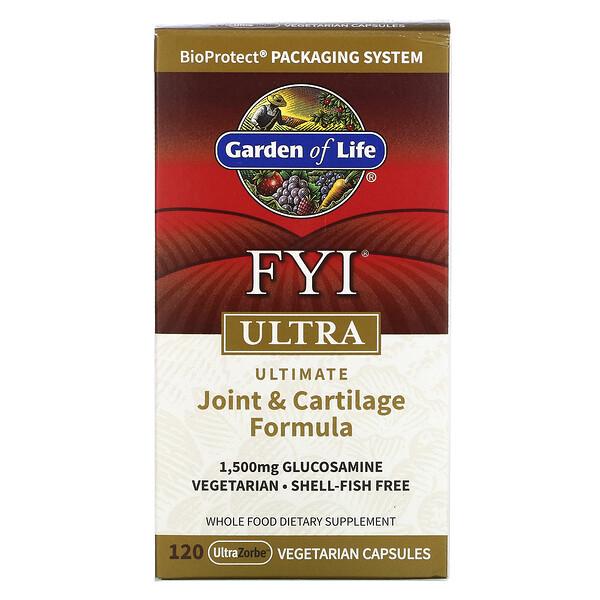 FYIUltra, Fórmula superior para las articulaciones y el cartílago, 120cápsulas vegetales UltraZorbe