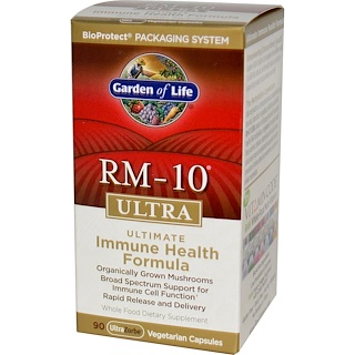 Garden of Life, RM-10 Ultra, Ultimate Immune Health Formula, 90 Veggie Caps
