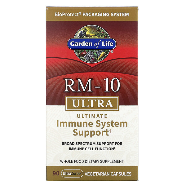 Garden of Life, RM-10 Ultra, Ultimate Immune System Support, 90 UltraZorbe Vegetarian Capsules