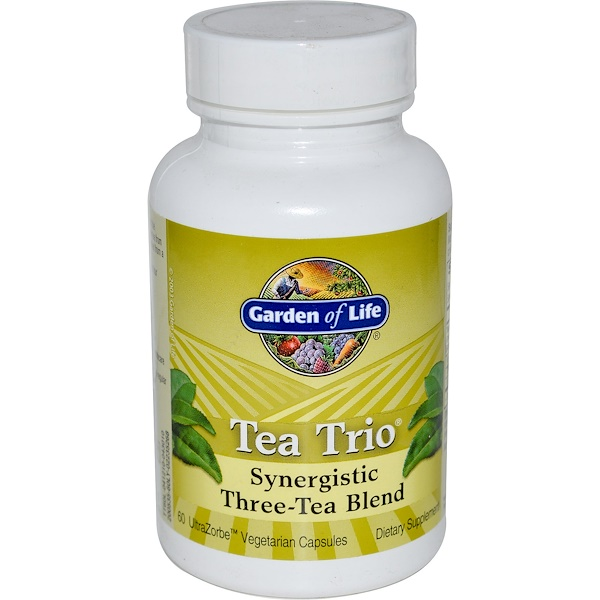 Garden of Life, Tea Trio, Synergistic Three-Tea Blend, 60 UltraZorbe Veggie Caps (Discontinued Item)