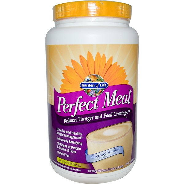 Garden of Life, Perfect Meal, Creamy Vanilla, 23.2 oz (658 g) (Discontinued Item)