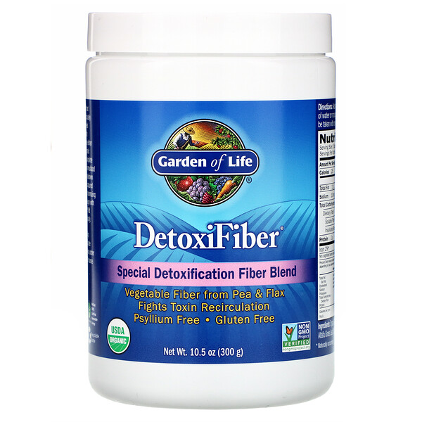 Garden of Life, DetoxiFiber, Special Detoxification Fiber Blend, 10.5 oz (300 g)