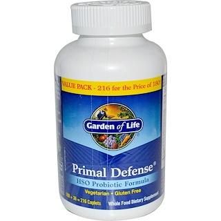 Garden of Life, Primal Defense, HSO probiotische Rezeptur, 216 Filmtabletten