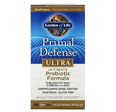 Primal Defense, Ultra, универсальная пробиотическая формула, 180 вегетарианских капсул UltraZorbe