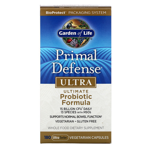 Primal Defense, Ultra, Ultimate Probiotic Formula, 180 UltraZorbe Vegetarian Capsules