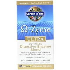 Garden of Life, 'Ω酶素',超高吸收率高級消化酶素混合體素食膠囊,180粒