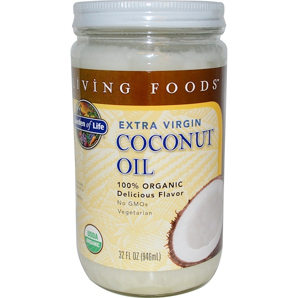 Garden of Life, Extra Virgin Coconut Oil, 32 fl oz (946ml) (Discontinued Item)
