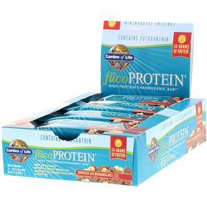 Гарден оф Лайф, FucoProtein, High Protein Thermogenic Bar, Chocolate with Macadamia Nuts, 12 Bars, 1.94 oz (55 g) Each отзывы покупателей