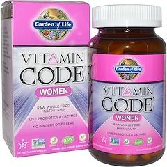Garden of Life, Vitamin Code, Women, Raw Whole Food Multivitamin, 120 Veggie Caps