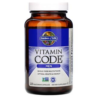 Garden of Life, Vitamin Code, Whole Food Multivitamin for Men, 120 Vegetarian Capsules