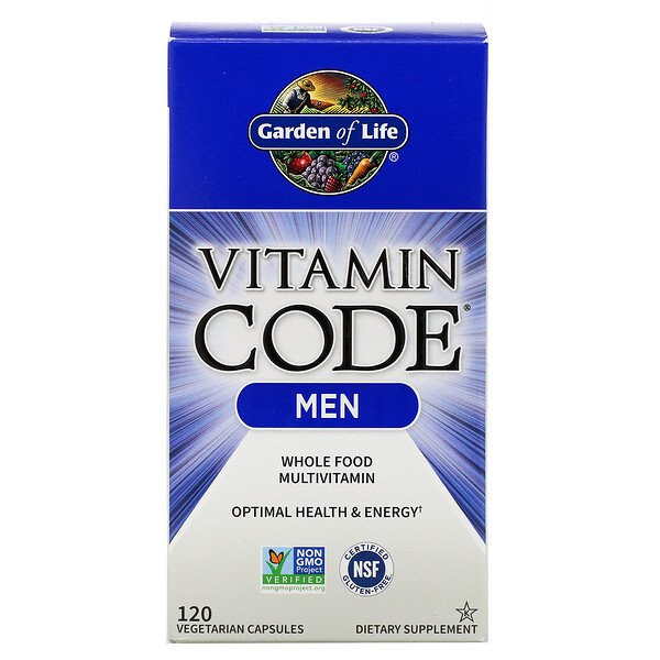 Vitamin Code, Men, 120 Vegetarian Capsules