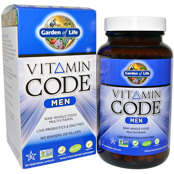 Garden of Life, Vitamin Code、Men、120ベジキャップ