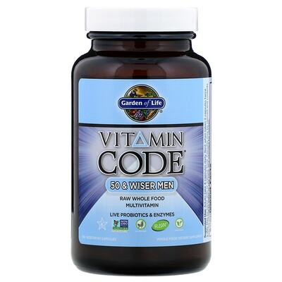 Купить Vitamin Code, для мужчин от 50, 120 вегетарианских капсул