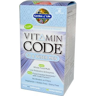 Garden of Life, Vitamin Code, 50 & Wiser Men, 120 Vegetarian Capsules