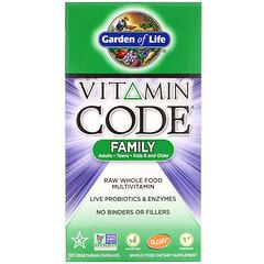 Garden of Life, Vitamin Code,未加工家庭全食複合維生素,120 粒素食膠囊