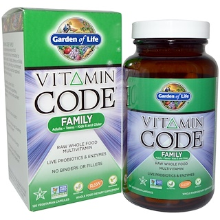 Garden of Life, Vitamin Code, Family, 120 Veggie Caps