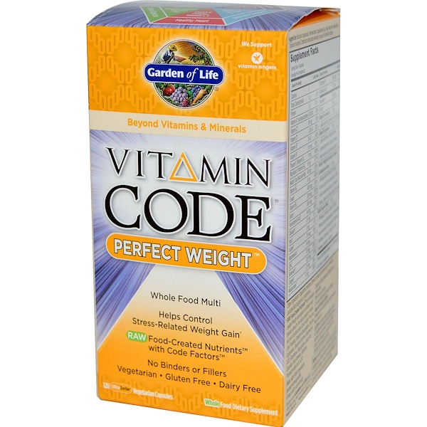 Garden of Life, Vitamin Code, Perfect Weight, 120 UltraZorbe Veggie Caps (Discontinued Item)