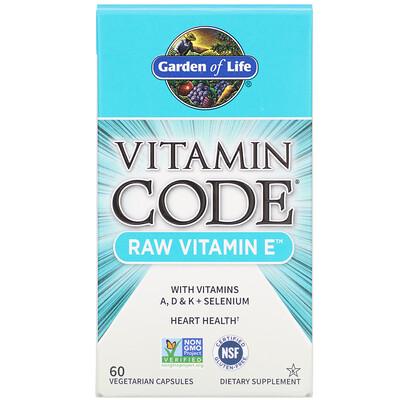 Купить Vitamin Code, RAW Vitamin E, 60 Vegetarian Capsules