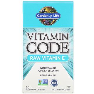 Garden of Life, Vitamin Code, RAW Vitamin E, 60 Vegetarian Capsules