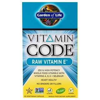 Garden of Life, ビタミンコード、ロービタミンE、60植物性カプセル