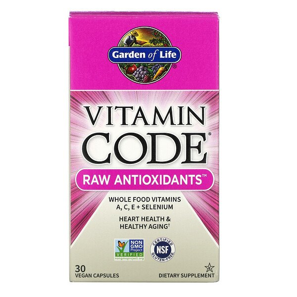 Vitamin Code, RAW Antioxidants, 30 веганских капсул