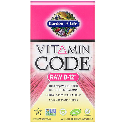 vitamin d3 blister 30 capsules Vitamin Code, RAW B-12, 30 Vegan Capsules