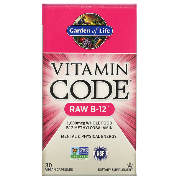 Garden of Life, Vitamin Code, RAW B-12, 30 Vegan Capsules