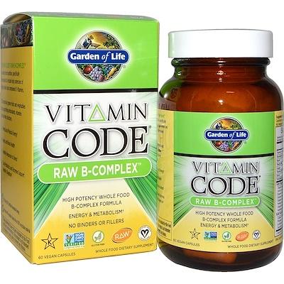 Купить Витаминный код, сырой B-комплекс, 60 веганских капсул