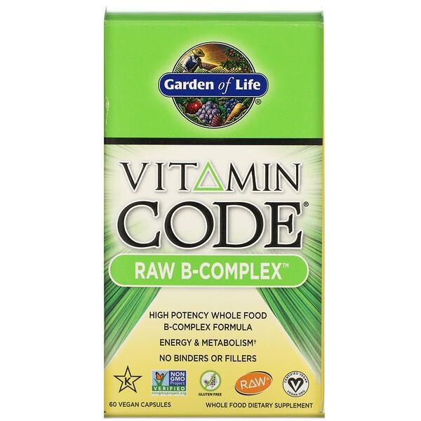 Vitamin Code, RAW B-Complex, 60 Vegan Capsules