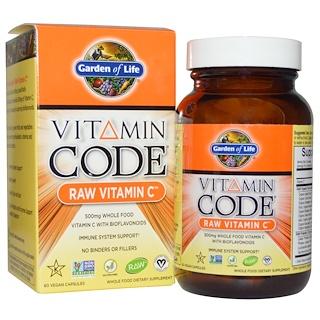 Garden of Life, Vitamin Code, Vitamina C crua, 60 cápsulas veganas