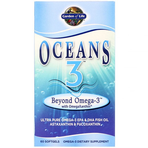 Oceans 3, Beyond Omega-3 with OmegaXanthin, 60 Softgels
